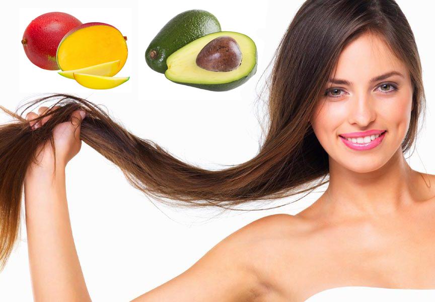 Mascarilla para pelo seco de aguacate y mango