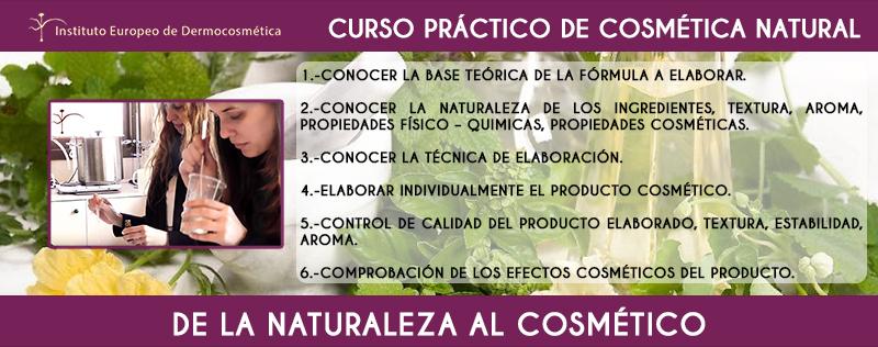 Curso práctico de cosmética natural