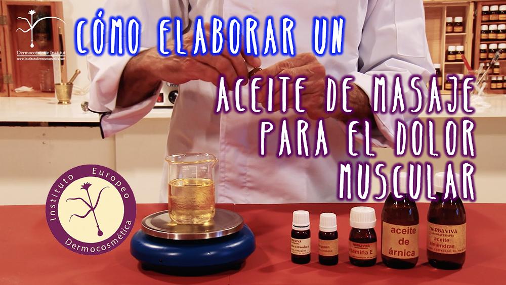 Aceite de masaje para el dolor muscular