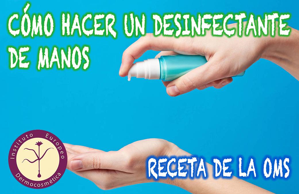 Cómo se hace un desinfectante de manos (receta de la OMS)