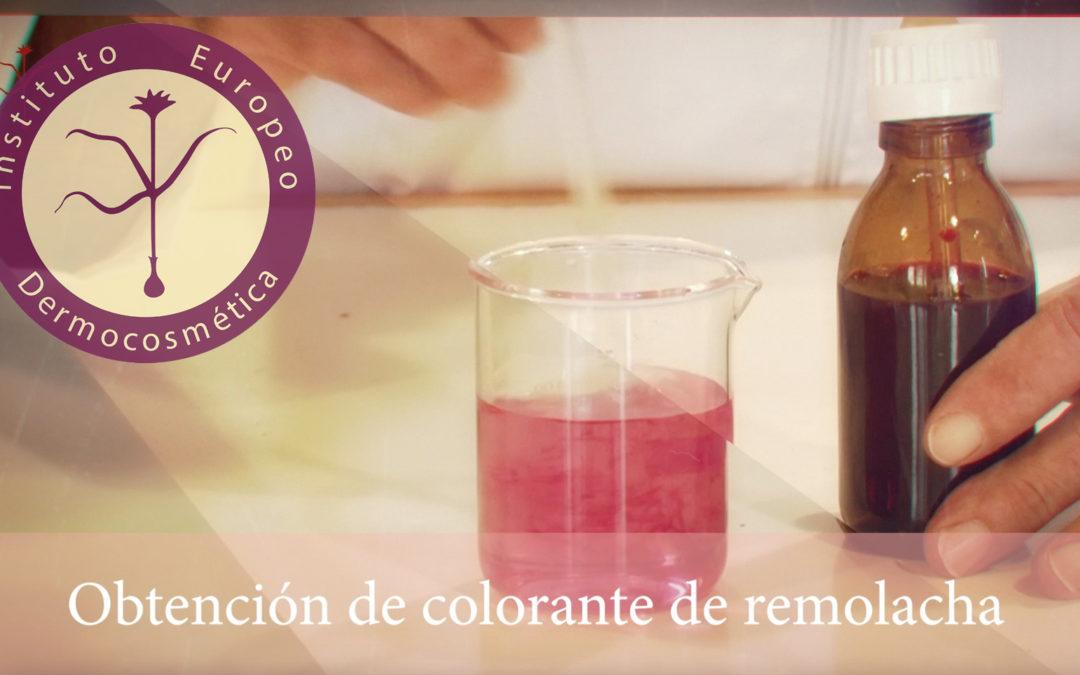 Como se hace un colorante de remolacha para cosmética natural