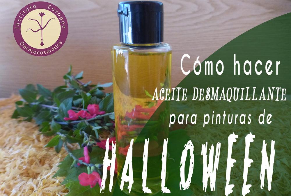 Aceite desmaquillante para pinturas de Halloween