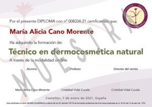 certificado cosmetica natural